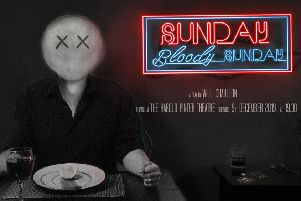 Part of the promotional poster for 'Sunday, Bloody Sunday'.