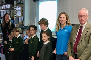The Campaign to Protect Rural England's (CPRE) Sussex branch presented Firle Church of England Primary School with a cheque for �120.