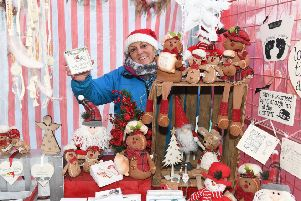 Louth Winter Market. Karen Scattergood of Sunshine and Rain Gifts