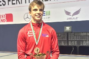 William Lonsdale has proved himself at home among the world's top fencers in hsi age group EMN-191227-110143002