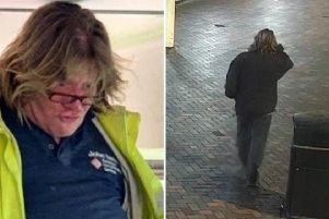 It is believed that the CCTV image (right) shows missing North Cotes man John Carl Davis in Bethlehem Street, near Freshney Place in Grimsby.