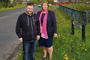 Thomas Larkham, SDLP community activist with MLA Dolores Kelly