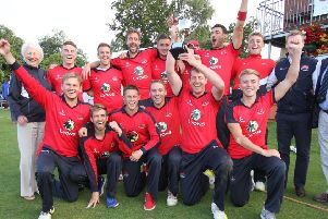 Waringstown celebrate their Twenty20 Cup final success