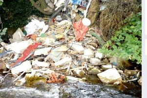Disgust at flytipping at Cusher River