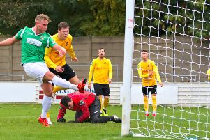 Aaron Berry scores. Picture: Mike Snell