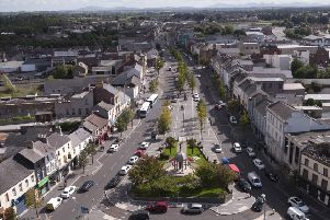 An aerial view of Lurgan