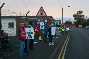 Glen Dimplex workers picket outside factory in Portadown