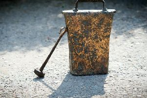 The historic artefact, made of iron plate mixed with copper alloy, was originally dug up on farmland in the 1920s
