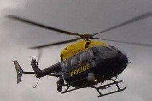 The PSNI helicopter.
