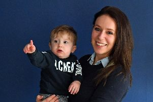 Lauren de Vries (31)  with her one year old son Oliver 'Picture by:  Malcolm Wells (190206-3382)