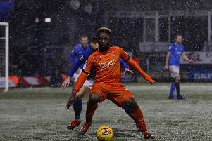 Town attacker Kazenga LuaLua is back in training