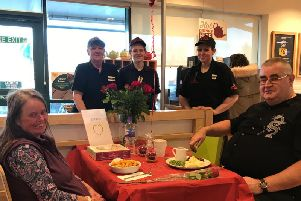 Helen and Pete from Durrington were over the moon with their free lunch at Morrisons Littlehampton