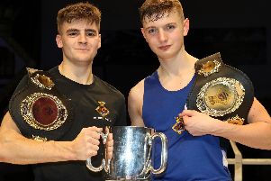 Engineering Technicians, (Marine Engineering) Jake and Joel Murray, both romped to victory for the Royal Navy against a team from the British Army. Photo: Royal Navy