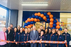 At the opening of the new B&M store in Lurgan.