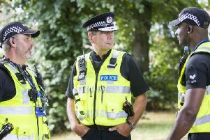 Nick Adderley (centre) says officers can still respond to incidents during meal breaks