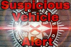 Police have issued a suspicious vehicle alert.