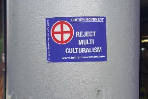 Racist stickers have appeared in Portadown