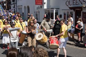 Action from last year's WhizzFizzFest parade through Aylesbury town centre
