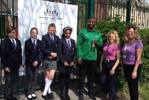 Mark Lewis-Francis visited Hogsthorpe Primary School.