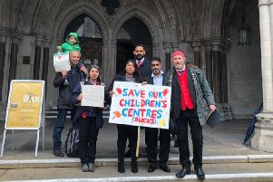 Campaigners outside the Royal Courts of Justice on Thursday