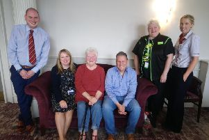 Members of the management committee for Portadown Wellness Centre.