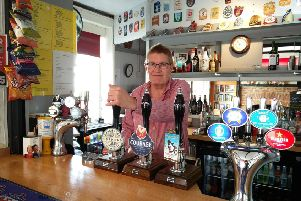 James Crossley still enjoys creating event buffets and pulling pints, working with his daughter at The New Inn in Littlehampton