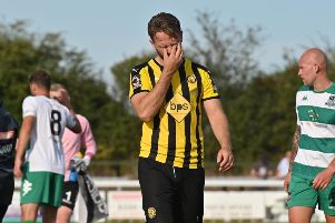 The disappointment is etched on Jack Lane's face at the final whistle. Pictures: Lou Smith