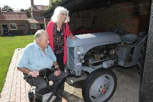 Heritage Open Day at Church Farm Museum, Skegness. Jim Drewery and Norah Petch. ANL-190916-131657001