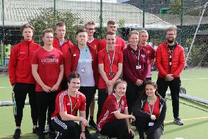 Sport students at Rugby College wearing red ahead of the diversity day.