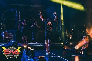 A fighter walks to the cage at Shock N Awe 30. Picture: Shock N Awe