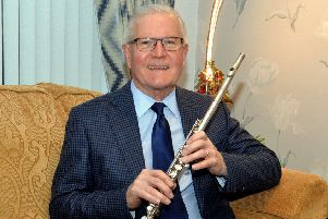 Drew Rowan, conductor and musical director of Corcrain Flute Band who has been awarded a BEM in the New Year's Honours. INPT01-234.