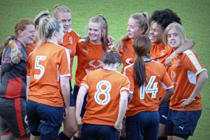 Huddle time for the Luton Town Ladies