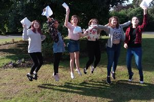 GCSE celebrations at Boston HIgh School