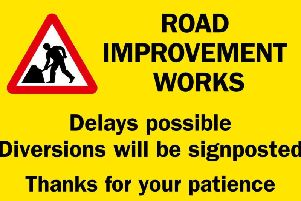 Road works notice