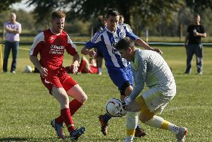 Caldecote v Wootton Blue Cross. Picture: David Kay