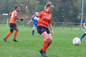Aurora Ryan in action for Luton Ladies