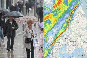 An intense band of rain is sweeping across the country today