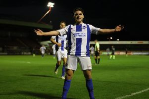 Young Seagulls attacker Aaron Connolly - pic: Brighton & Hove Albion.