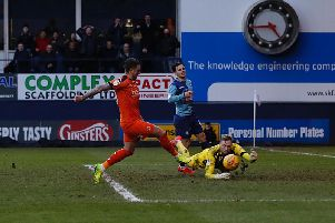 George Moncur makes it 2-0 to Luton this afternoon