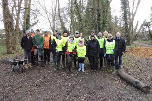Aylesbury's Rotary Club and AVDC councillors plant 180 trees in Bedgrove Park