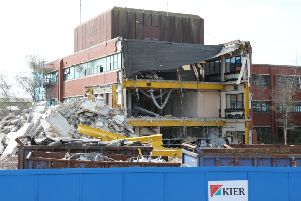 The Adur Civic Centre was demolished in 2017