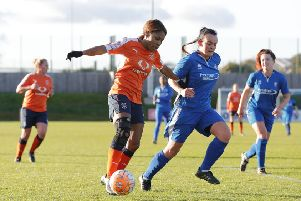 Dionne Manning scored for Luton Ladies on Sunday