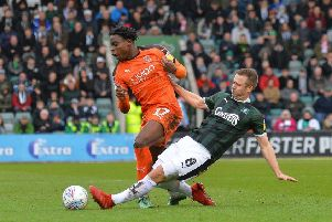 Pelly-Ruddock Mpanzu in action against Plymouth recently