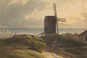 Windmill on the Sea Coast Near Hastings, by Henry Morton. From the Yale Center for British Art