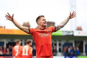 Luton striker James Collins was the EFL League One Player of the Year