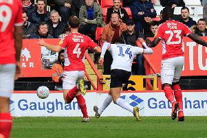 Harry Cornick fires Luton into the lead at Charlton (Picture: Liam Smith)