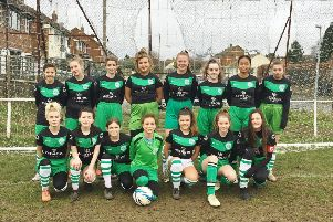 The Luton Celtic Ladies U15, sponsored by Redrow Homes South Midlands