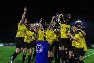Chi City Ladies lift the Sussex Cup / Picture by Sheena Booker