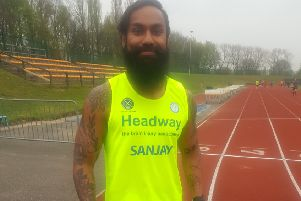 Sanjay is running the marathon for Headway