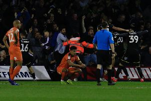 James Justin can't believe Town have conceded in stoppage time